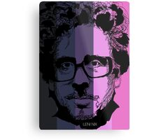 Tim Burton in stripy background! Metal Print