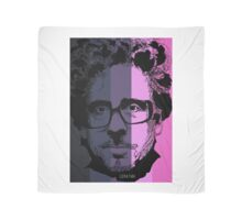 Tim Burton in stripy background! Scarf