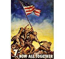 Now all together Vintage War Poster Restored Photographic Print