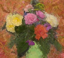 Flowers in a Green Vase by JimPavelle