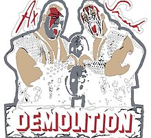 Retro Wrestling T-Shirt Demolition by britishtees