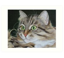 Kusia - lady with emerald eyes Art Print