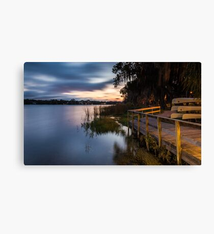 Goodnight Canoes Canvas Print