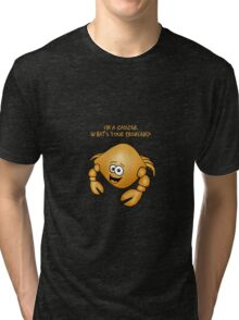 Zodiac Cancer cartoon crab. Tri-blend T-Shirt