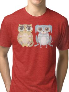 Cat and Lanky Dog Tri-blend T-Shirt