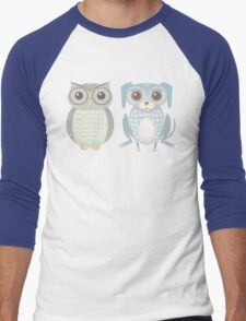 Cool Owl and Lanky Dog Men's Baseball ¾ T-Shirt