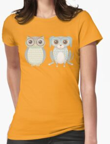 Cool Owl and Lanky Dog Womens Fitted T-Shirt