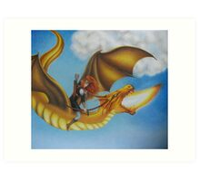 Fire Dragon - Black Book of Arda  Art Print