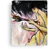 crucify my love Canvas Print
