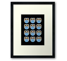 Blue Owls Framed Print