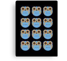 Blue Owls Canvas Print