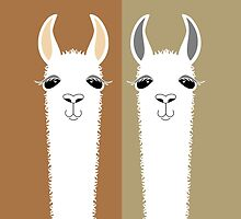 LLAMA COUPLE by Jean Gregory  Evans