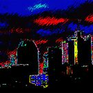 Neon Nashville Cityscape by Perspective