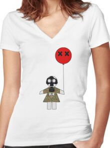 Toxic  paper doll Women's Fitted V-Neck T-Shirt