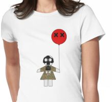 Toxic  paper doll Womens Fitted T-Shirt
