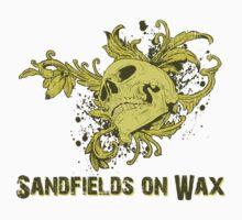 Sandfields on wax Skull Tshirt by jay007