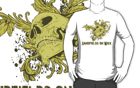 Sandfields on wax Skull Tshirt by jay007