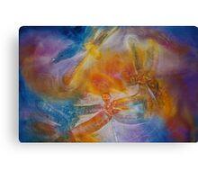Watercolour: Dragonfly dance Canvas Print