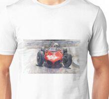 Ferrari 156 Sharknose Phil Hill Monaco 1961 Unisex T-Shirt