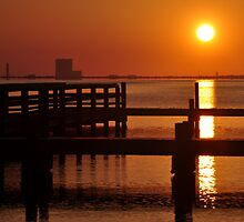 titusville dock at sunrise by 1busymom