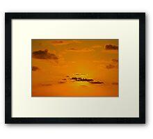 At dawn on the island... Framed Print