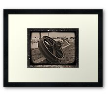 Rusty Wheel Framed Print