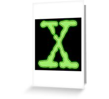 X Greeting Card