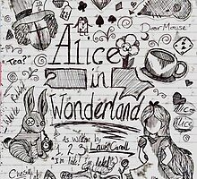 Alice in Wonderland Sketchbook Page 1 by Daniel Bonney
