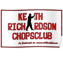 ChopsClub Logo on RedBubble Poster