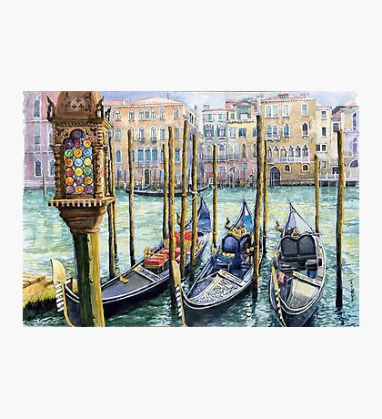 Italy Venice Lamp Photographic Print