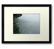 Bridge In The Fog Framed Print
