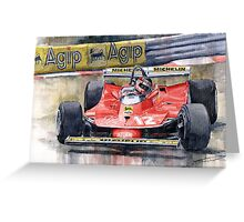 Ferrari  312T4 Gilles Villeneuve Monaco GP 1979 Greeting Card