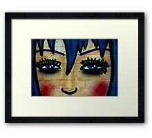 Cartoon Faces Framed Print
