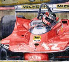 Ferrari  312T4 Gilles Villeneuve Monaco GP 1979 Sticker