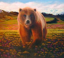 """""""High Meadow Grizzly"""" by Charles  Wallis"""