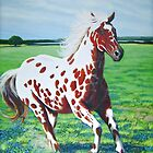 """The Red Appaloosa"" by Charles  Wallis"