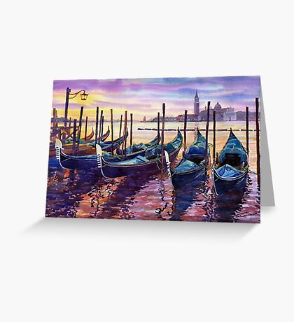 Italy Venice Early Mornings Greeting Card