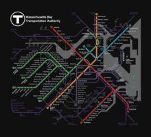 MBTA Boston Subway - The T One Piece - Short Sleeve