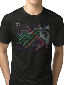 MBTA Boston Subway - The T Tri-blend T-Shirt