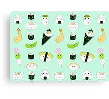 Kawaii Bento Box Print - Mint Canvas Print