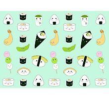 Kawaii Bento Box Print - Mint Photographic Print