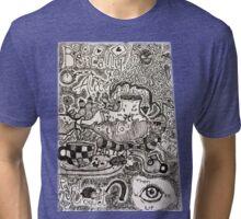 Alice in Wonderland Sketchbook page 2 Tri-blend T-Shirt