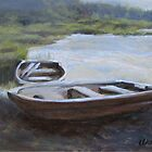 """The Pond Row Boat #1"" by Charles  Wallis"