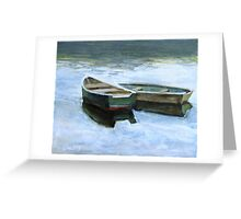 The Pond Row Boats #2 Greeting Card