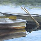 """The Pond Row Boats #3"" by Charles  Wallis"