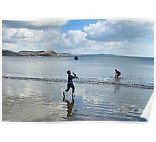 Beach Play ~ Lyme Regis Poster