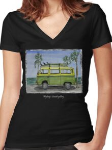 Vw art Women's Fitted V-Neck T-Shirt