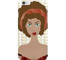 Sexy brunette woman  iPhone Case/Skin