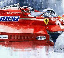 Ferrari 126C Silverstone 1981 British GP Gilles Villeneuve by Yuriy Shevchuk