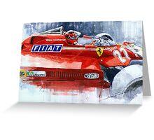 Ferrari 126C Silverstone 1981 British GP Gilles Villeneuve Greeting Card